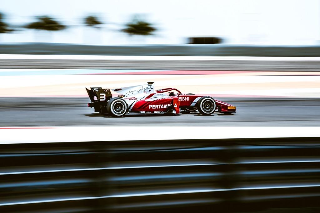 Sean Gelael saat tampil bersama tim Pertamina Prema Theodore Racing di F2 Bahrain