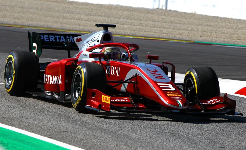Sean Gelael saat tampil di GP Barcelona