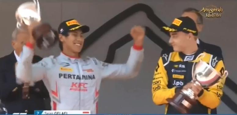 Sean Naik Podium F2 GP Monaco