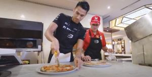 Cooking Pizza with Sean Gelael and Mick Schumacher