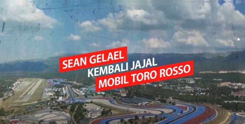 Sean Jalani Uji F1 bersama Toro Rosso