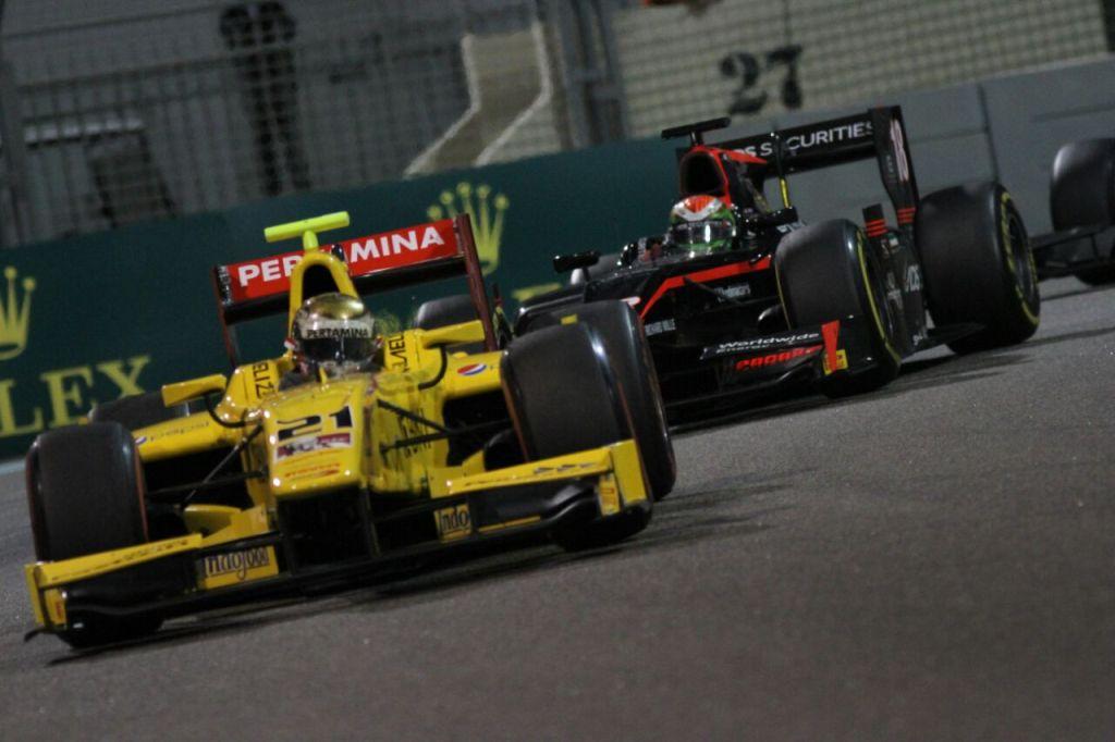 Aksi Sean Gelael saat tampil di feature race F2 GP Abu Dhabi (Foto: Dok. Sean Gelael)